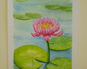 Waterlily - watercolor