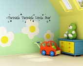 Vinyl Lettering Decal  - Twinkle Twinkle little star - 1312