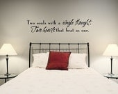 Vinyl Wall Decal -  Two souls with a single thought...1215