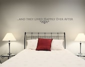 Vinyl Lettering - And they lived happily ever after - 1204