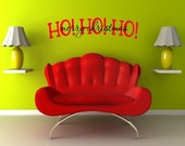 Ho Ho Ho Merry Christmas-2 colors- Christmas Holiday Vinyl Lettering Wall Art Decal -   1802
