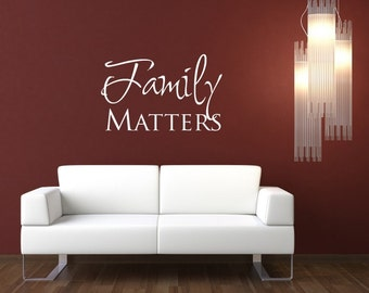 Vinyl Lettering Decal - family matters - 1118
