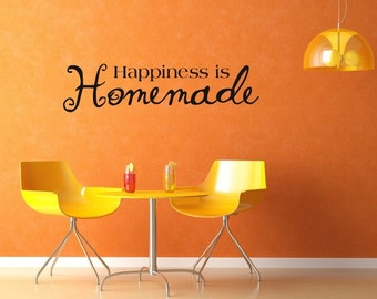 Vinyl Lettering Decal - Happiness is homemade-1513