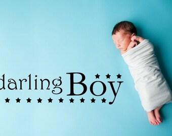 Vinyl Wall Decal  - Darling Boy - 1334