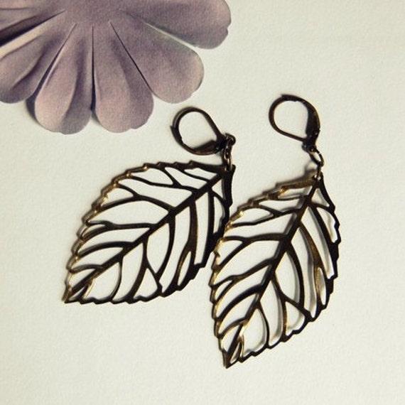Falling Leaves...long dangle earrings