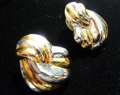 Vintage 1980s Sterling Silver and Gold Earrings on Etsy