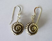 Karen Hill Tribe Fine Silver Shell Earrings on Etsy