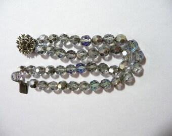 Vintage Rhinestone and AB Crystal Bracelet