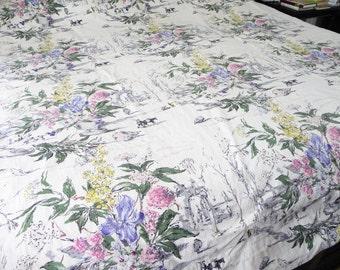 Vintage Barkcloth Curtain Panel Fabric on Etsy