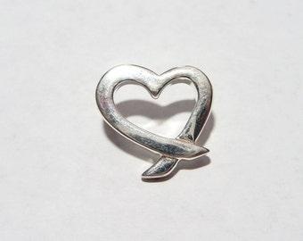 Sterling Silver 925 Heart Slide Pendant on Etsy