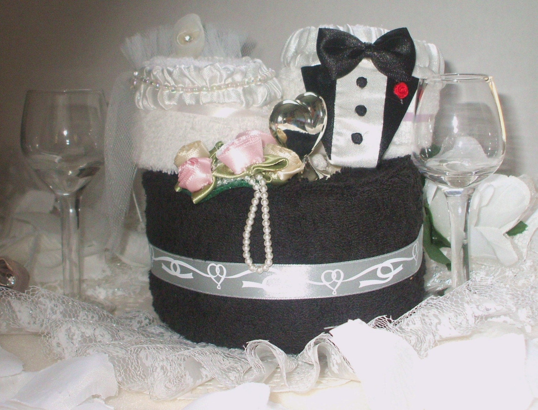 Towel Wedding Cake Centerpiece
