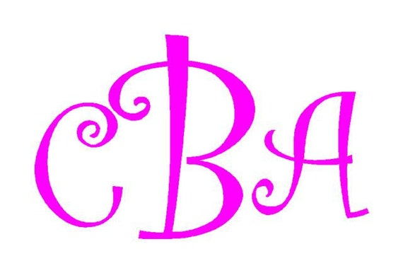 Personalized Monogram Vinyl Decal Sticker for Car - Laptop - Bucket  and much more