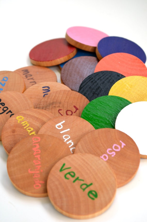 Spanish Wooden Memory Game
