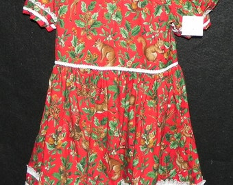 Poly-Cotton Holiday  Dress  Girls Size 6