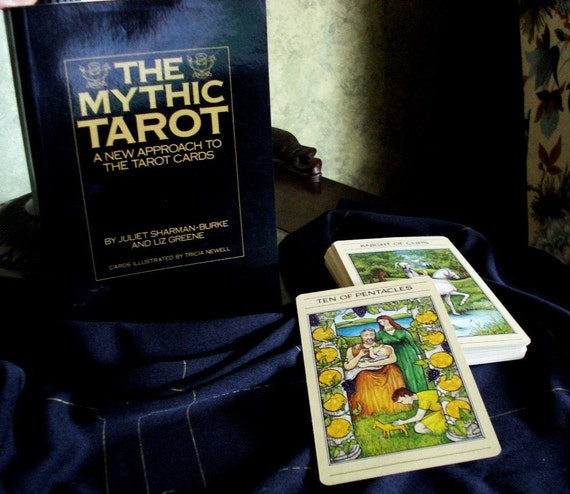 Vintage The Mythic Tarot Book Cloth And Cards Set 1986