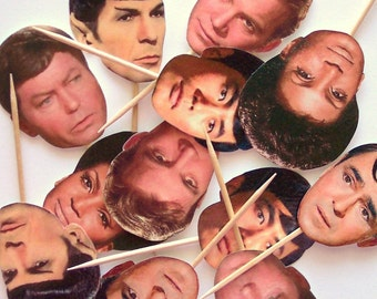 Star Trek Cupcake Toppers - Set of 24 Picks