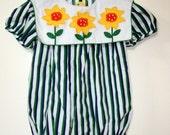 Striped Sunflower Onesie/ 9-12 mos