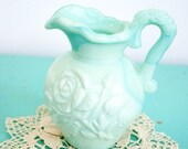 Vintage Small Blue Avon Pitcher