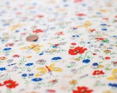 Vintage Fabric Yardage, 1 7/9 yard, The Butterfly Fabric...SALE