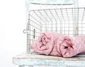 Vintage Purplink Lace Curtains, Set of 2...SALE