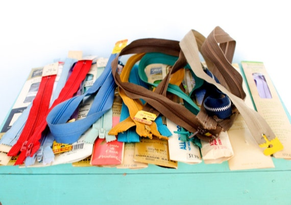 Lot of Vintage Zippers and Tracing Wheels