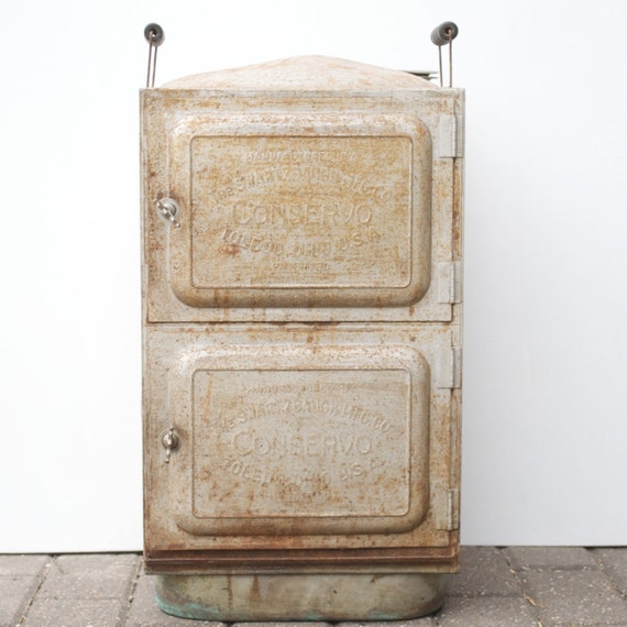 Antique Conservo / Unique Storage Cabinet / Shelving Unit