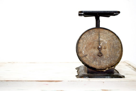 Vintage Rustic Kitchen Scale by COLUMBIA