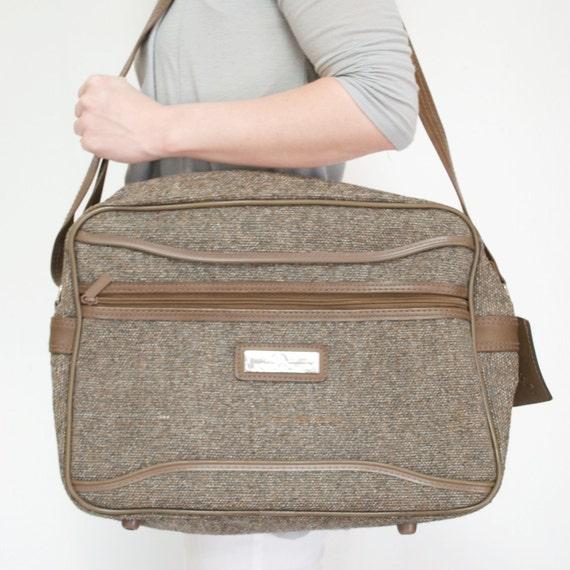 Vintage Tweed JORDACHE Carry on Luggage SALE