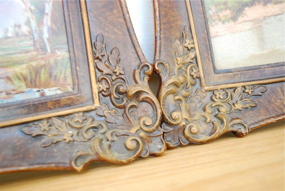 Vintage Ornate Frames / Set of Two / Oil Paintings