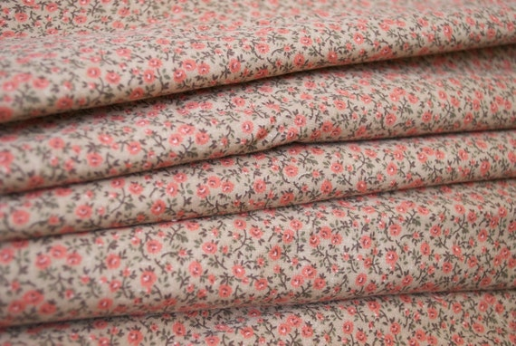 Reserved for litoange Vintage Fabric Yardage, 1 1/2 yards, Coral Creation