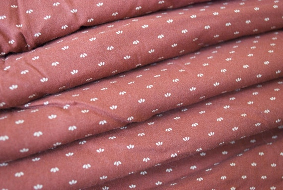 Vintage Fabric Yardage, over 6 yards, Rustic Rust