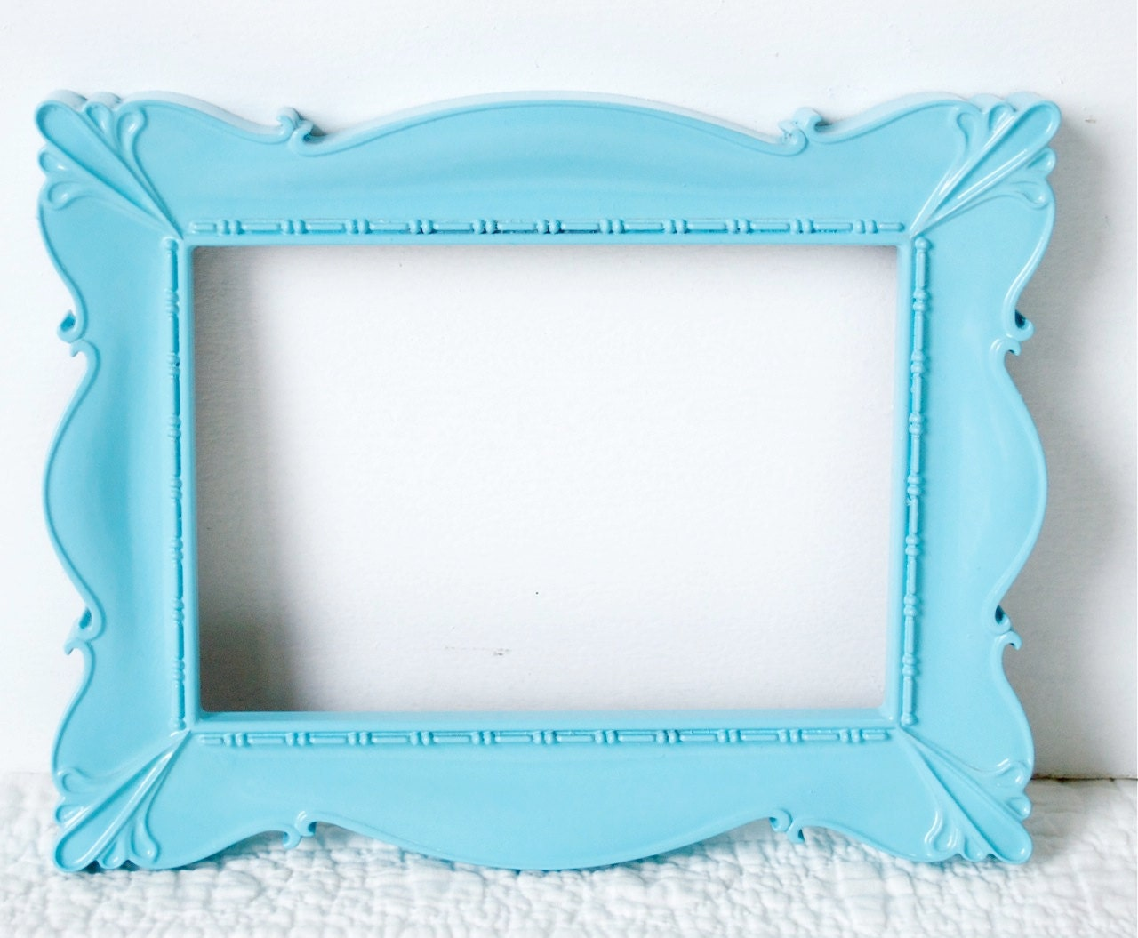 Vintage Empty Frame In Turquoise Blue