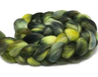 Swamp Thing - hand dyed Superwash BFL roving