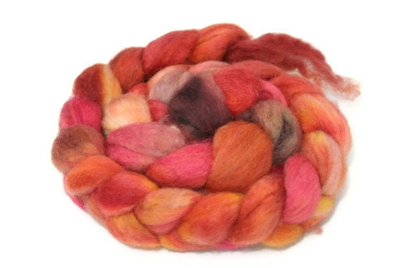 Professor Von Buren - hand dyed Superwash BFL roving