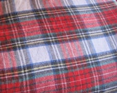 Christmas Green and Red checked Soft cotton fabric