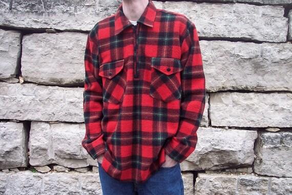 Vintage EUROA Plaid Wool Shirt Jacket Mens L XL Made in Australia