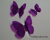 Purple Stained Glass Butterflies