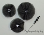 Handmade Tulle Flowers and Stick Pin