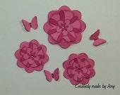 Handmade Flowers and Butterflies