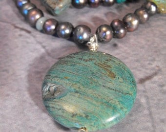 blue sky jasper necklace set