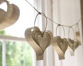 Shakespearean paper garland of hearts