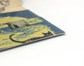 Blue wallet, book wallet, upcycled book, Narnia, soft blue
