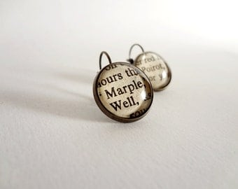 Agatha Christie Book Earrings Detective Novel Marple and Poirot Book Jewellery