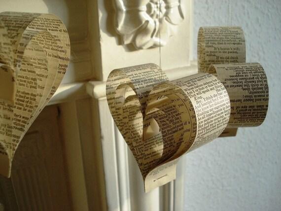 Paper Shakespearean hearts  - weddings