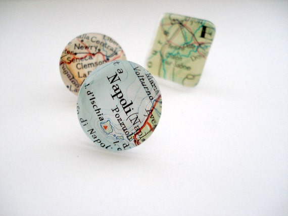 Tie Pin, Vintage Maps, Tie Tack, Maps, Personalized