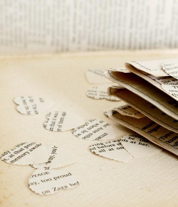 Wedding confetti - recycled romance novel  confetti