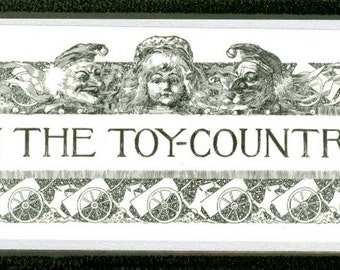 Vintage In the Toy Country Bookmark - Laminated