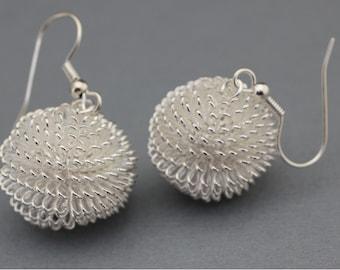 Silver Earrings - Silver Colored Wire Earrings