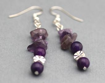 Earrings - Purple Amethyst