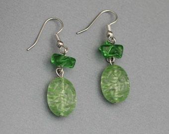 Earrings - Light Green Dangle